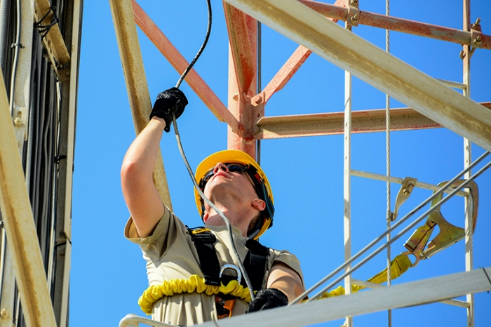 379th ECES and ECS renovate radio tower